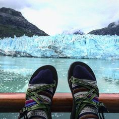 The traveling chacos ft. Margerie Glacier #chaco #alaska #chaconation
