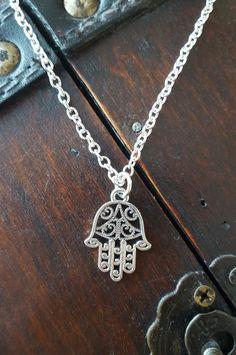 HAMSA HAND Pendant Necklace* Silver* Northwest* Spiritual* Traveler* Birthday* Christmas gift by Littlelightstudios on Etsy