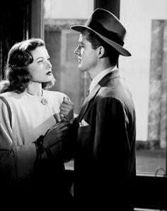 Gene Tierney and Dana Andrews in Laura (Otto Preminger, 1944)