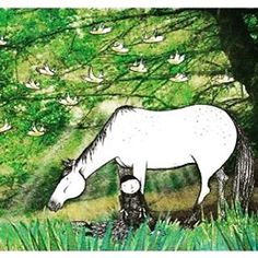 Image from Alison Lester's children's picture book 'Running with the Horses'. Children's Picture Book Illustration exhibition currently on at Blarney Books & Art until 4 October. Exhibition hosted and curated by Customs House Gallery Hawkesdale. Come see!  @alisonlesterbooks @des_and_helen @portfairypics @exlibrisportfairy @visitwarrnambool #childrensbooks #picturebooks #illustration #exhibition #horses #books #art #blarneybooksandart #portfairy by blarneybooks