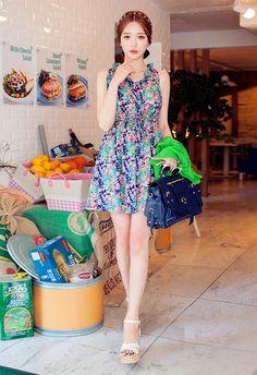 [CHUU] TROPICAL FLORAL DRESS #WomensFashion #KoreanFashion
