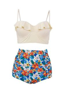 1febbd4636c TOPMELON Swimwear Women Bikini Bohemian High Waist Plus Size Push Up  Bathing Suit Beachwear Padded Swimsuit Female Biquini Bikini