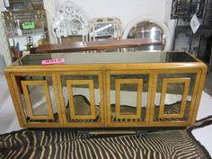 RomWeber Burl Wood Console With Plinth Base