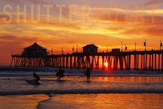 Surf Sunset - Stock Photo