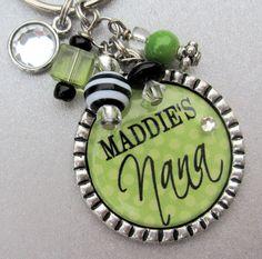 Grandma Personalized Name Silver Pendant - Children's Name-- Godmother, Mom, Nana, Aunt, Purse Clip,Mimi, Cross