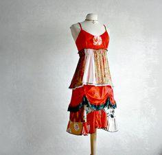 Upcycled Dress Bohemian Sundress Eco by BrokenGhostClothing, $119.00