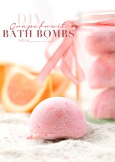 DIY Grapefruit Bath Bombs made from just 6 ingredients and only require 5 minutes to make. Take your baths to the next level with these homemade treats.