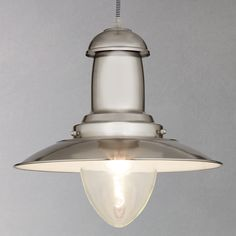 Buy John Lewis Barrington Ceiling Pendant, Steel | John Lewis