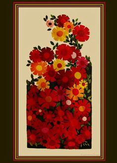 *VERY VINTAGE CREWEL* PARAGON * RETRO GARDEN FLOWERS * Kit HUGE #PARAGON
