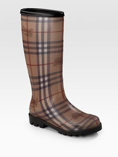 76f0766f8b2e Burberry Check Wellington Boots media gallery on Coolspotters. See photos