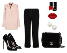 """""""Cropped trousers outfit #4"""" by mrsminimalist on Polyvore featuring George, Stills, Chanel, Kate Spade and Winky Lux"""