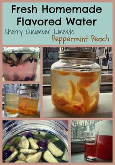 healthy, hydrating drinks from water and fresh ingredients Flavored Water Recipes, Drinks Alcohol Recipes, Flavored Waters, Flavored Oils, Healthy Drinks, Healthy Cooking, Healthy Eating, Fresco, Smoothie Drinks