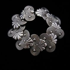 Taxco Silver Bracelet. Handcrafted with excellent workmanship and beautifully finished. This is a Hector Aguilar design. One of many Mexican masters silver designers.