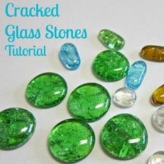 DIY cracked glass stones tutorial - dollar store craft