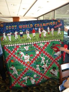 Lovely Red Sox world champs quilt - wow!