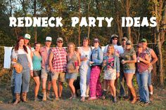 Redneck Party Ideas - Costumes, Decor, and Games White Trash Party Outfits, White Trash Costume, White Trash Bash, White Trash Outfit, Hillbilly Costume, Redneck Costume, Hillbilly Party, Nascar Costume, Hallowen Costume