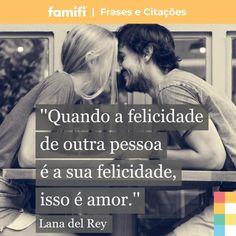 Quando amamos verdadeiramente, tudo que queremos é ver o outro feliz. Marque essa pessoa! <3 #amor #casamento #namoro #relacionamento #felicidade #vidaadois #frasesdeamor #frases