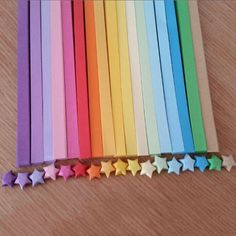 80pcs Funny Origami Lucky Star Paper Strips Folding Ribbons Colors FM US