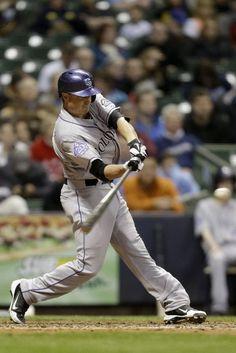 images  of colorado rockies baseball players 2013   MILWAUKEE, WI - APRIL 3: Jordan Pacheco #15 of the Colorado Rockies ...