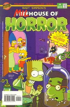 Bart Simpson's Treehouse of Horror - Bart Simpson's Milhouse of Horror (Issue) Simpsons Drawings, Simpsons Art, Bart Simpson, The Simpsons Tv Show, Comic Book Covers, Comic Books, Los Simsons, Simpsons Halloween, Simpsons Treehouse Of Horror