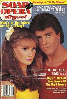 Lisa Trusel & Michael Leon (Melissa & Pete #DAYS) 7/17/84 http://classicsodcovers.tumblr.com/