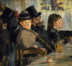 Cafe, by Edouard Manet. http://www.topofart.com/artists/Edouard_Manet/painting/4224/Au_Cafe.php