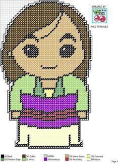 Mulan x-stitch