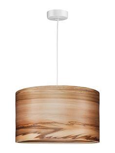 Wood hanging Lamp Natural Satin Walnut Veneer by Sponndesign