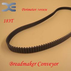 2Per Lot 183T Perimeter 549mm Kitchen Appliance Parts Bread Maker Parts Breadmaker Conveyor Belts Free Shipping