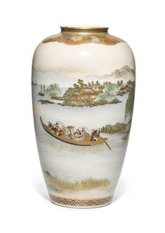 Meiji Era, Vases, Bowls, Auction, Pottery, Japanese, Fine Art, Pictures, Beautiful
