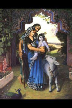 Nand Yashoda and baby krishna