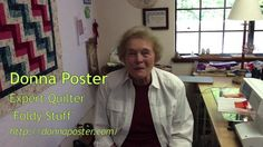 """Quilting expert, Donna Poster, shares the secrets behind her """"Foldy Stuff,"""" a quick, efficient way to quilt that requires no batting. Take a master grid in pencil on a cloth square, bits of scrap cloth, and a sewing machine and with a little time and talent you can make place mats, comforters, and full quilts."""