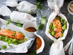 Lachs Päckchen aus dem Backofen: Asiatischer Teriyaki Ofenlachs