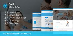 OneMedical – Responsive Bootstrap Template OneMedical is a Fully Responsive Medical Page Template built on Bootstrap, HTML5, CSS3, JavaScript, jQuery. It's a modern crafted HTML template which ca...