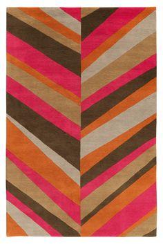 Sybil Lines Warm by Jonathan Adler | Lana Alfombras contemporáneas de diseñadores anudadas a mano