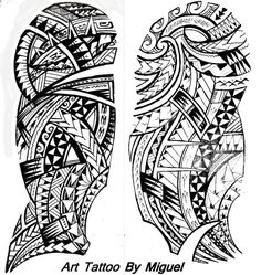 Polynesian tattoo designs for shoulder and arm