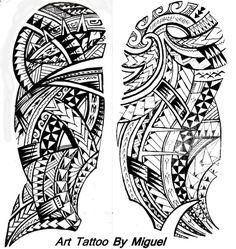 Dessins de Tatouage Maori pour l'épaule et le Bras Polynésien