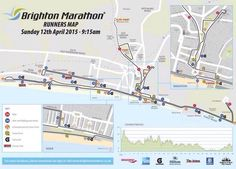 Brighton Marathon Runners Map 12th April 2015. I am here .... Home...