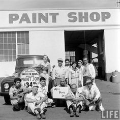 Miss Paint Dept. at Muller Bros. Automotive on Sunset Blvd. in Hollywood.