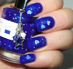 """Frozen Heart glitter nail polish 15 mL (.5 oz) from the """"Villain of the Month"""" Collection (July)"""