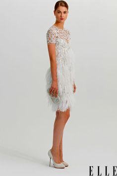 Bridesmaid/Bride  elle:    Modern Bride  Would you wear a cocktail dress to your own wedding? We would if it was from Marchesa's spring 12 bridal collection!  Photo: courtesy of Marchesa