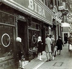 The most famous of all boutiques flourished in Carnaby Street and Camden was Biba(in an Art Deco department sore on Kensington High Street) the first British boutique to enter the popular consciouness and change the way ordinary girls in the high street dressed.Young women finally had access to high fashion and low cost,unlike the preceding decade,status was no longer lay in the price of something,but in the immediacy of the design.Fashion was no longer just about garments but about body shape,p