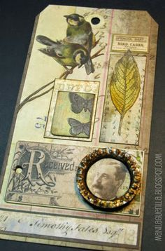 Beulah Bee: 12 tags/May - Wallflower paper stash http://beulahbee.blogspot.com/2014/05/calling-card.html