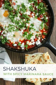 Shakshuka with Spicy Marinara Sauce - Use these Step-by-Step instructions to create a hearty, flavorful dish! #MeatlessMonday