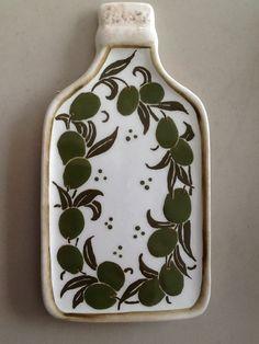 Porta azeite ramos de azeitonas - Studio Seramik