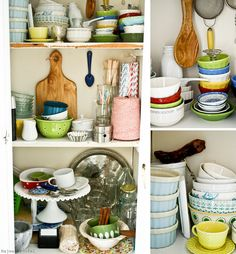 love those dishes and colors.
