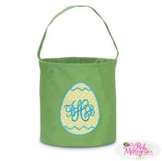Monogrammed Easter Basket in 3 patterns  Home & Garden > Decor > Seasonal & Holiday Decorations > Ornament Storage Containers