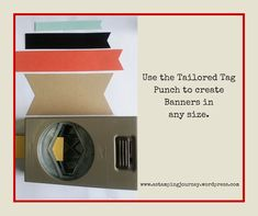 Use the Tailored Tag Punch to create your banners. Homemade Christmas Cards, Homemade Cards, Handmade Christmas, Paper Punch, Punch Art, How To Make Banners, Card Making Tips, Craft Punches, Embossing Folder
