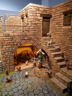 old egyptian house model Diy Nativity, Christmas Nativity Scene, Christmas Villages, Christmas Crafts, Nativity Scenes, Ancient Egyptian Cities, Modelos 3d, Creation Deco, Miniature Houses