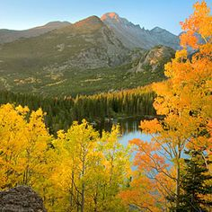 Top 5 fall hikes | Bear Lake, Rocky Mountain N.P., CO | Sunset.com All Nature, Amazing Nature, Flower Carpet, Places To Travel, Places To See, Parque Natural, Lake Photos, Destinations, Rocky Mountain National Park